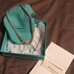 Tiffany & Co. Jewelry - Tiffany & co graduated bead ball silver necklace